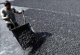 A coal mine.