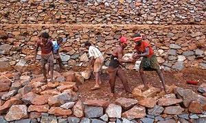 Iron ore miners in Karnataka. Photograph: Danish Siddiqui/Reuters