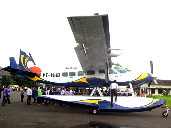 Seaplane service from Mumbai launched.