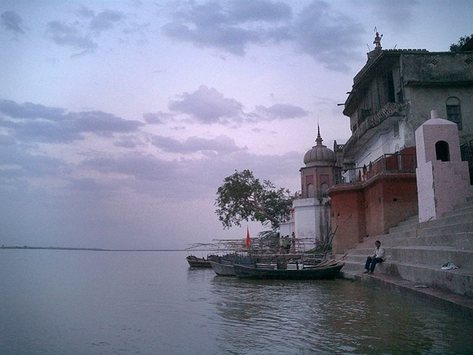 Ghat on the Ganges near Kanpur