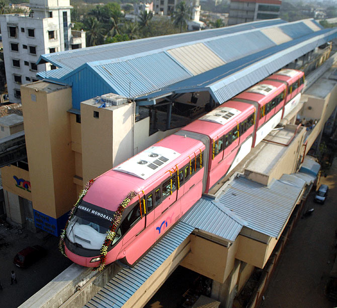India's first monorail rolls out in Mumbai