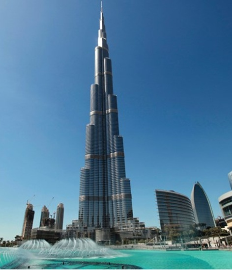 Burj khalifa 39 s top deck hosted over mn visitors in for Famous structures in dubai