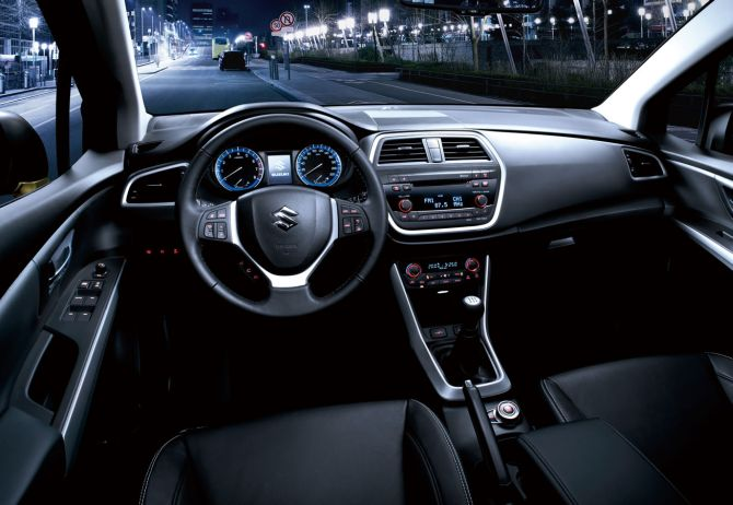 Interiors of SX4 S-Cross.