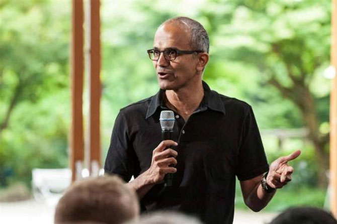 Nadella becomes a rage in cyber world