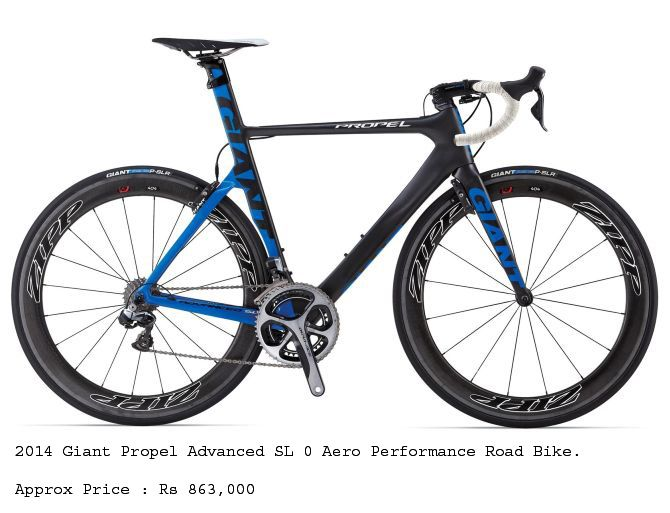 2014 Giant Propel Advanced SL 0 Aero Performance Road Bike that cost Rs 863,000.