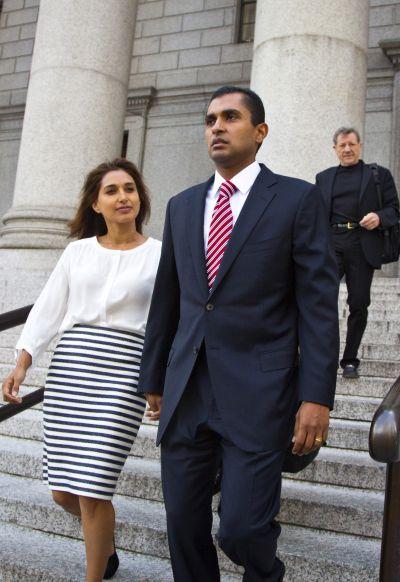 Mathew Martoma with his wife Rosemary Martoma.