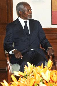 Former UN Secretary General Kofi Annan. Photograph: Courtesy: Prime Minister's Office