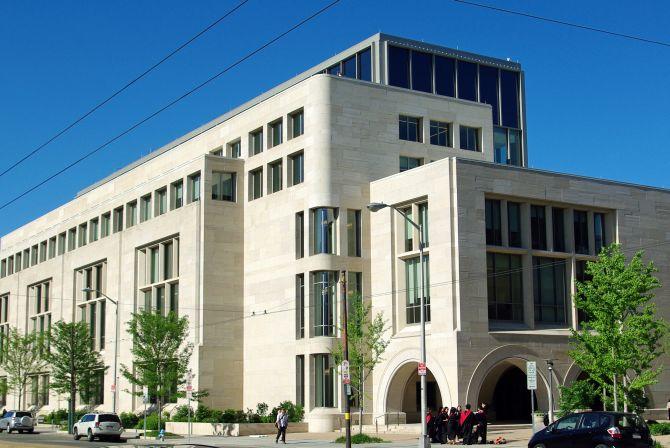 Harvard law School's Wasserstein Hall.