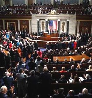 The chamber of the House of Representatives on Capitol Hill in Washington. Photograph: Larry Downing/Reuters