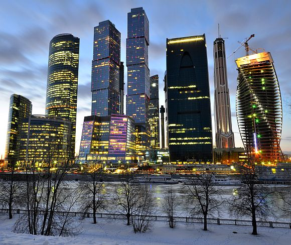 Moscow City Skyling