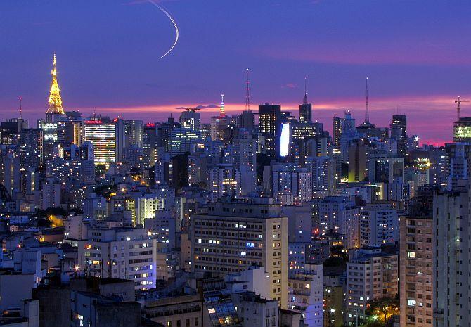 Sao Paulo skyline.