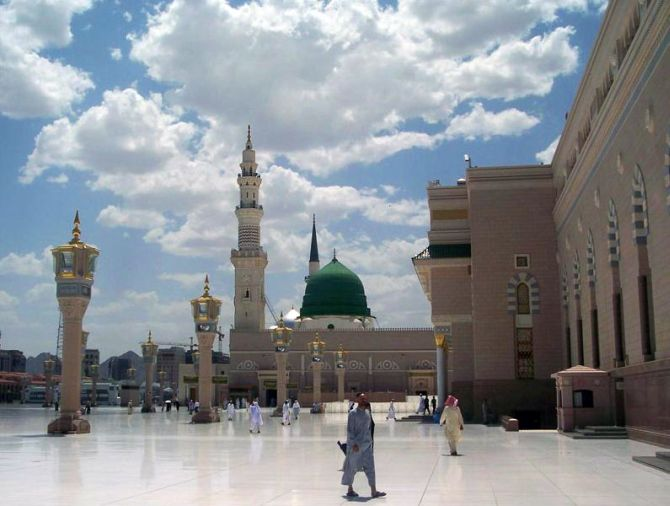 Al-Masjid al-Nabawi, it is the Masjid of Mohammed the prophet of Islam.