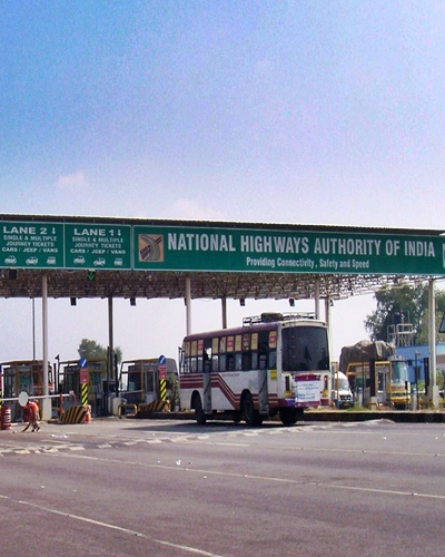 Toll Plaza at Ulundurpet on the Trichy Tollway.
