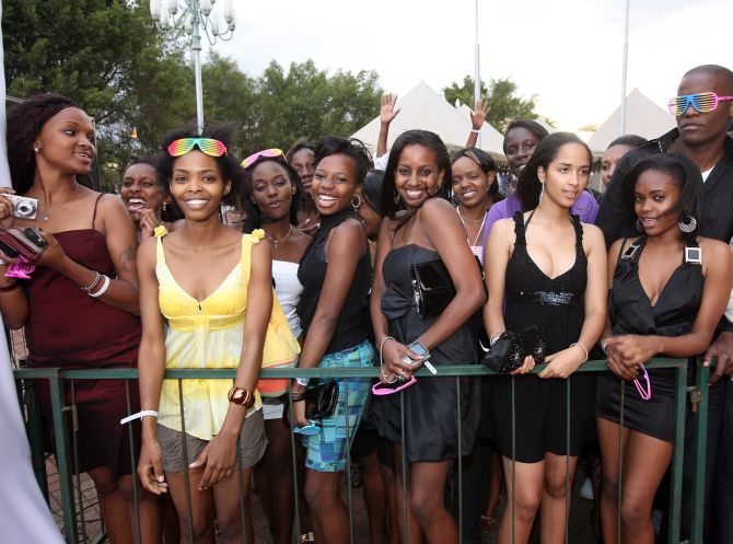 Fans arrive at the MTV Africa Music Awards in Nairobi.