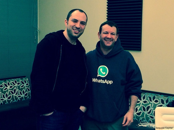 Jan Koum (L) and Brian Acton.