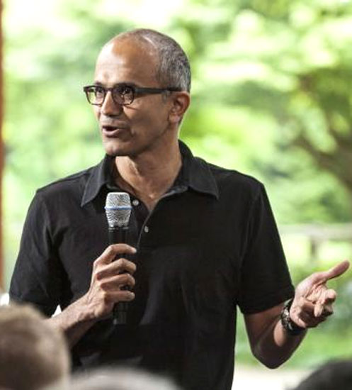 Satya Nadella said in his new role he would work on reinvention.