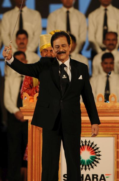 Subrata Roy in happier times.