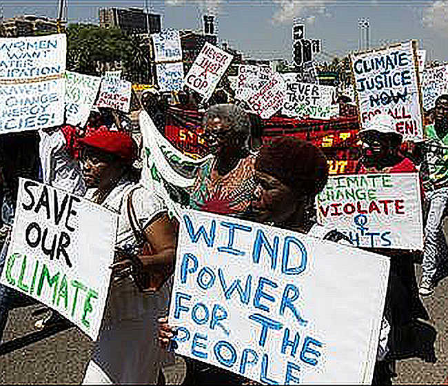 Protests against global warming is on the surge globally