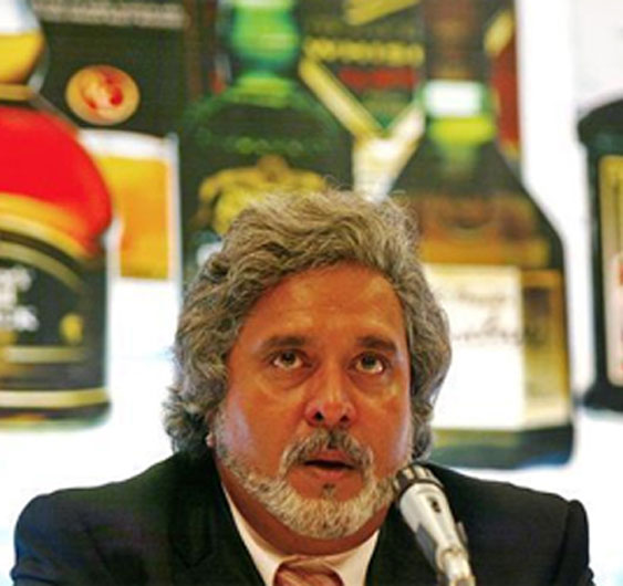A file photo of UB group chairman Vijay Mallya during a news conference in Mumbai on June 14, 2005..