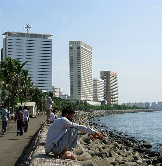 Air India Building and Hotel Hilton Towers at Nariman Point.