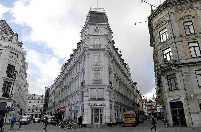 A view of finance institute Sydbank in Copenhagen, Denmark.