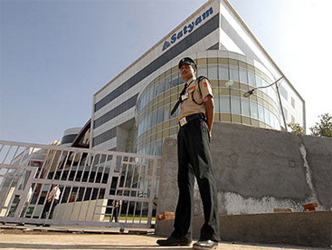 A file photo of Satyam Computer Services head office in Hyderabad