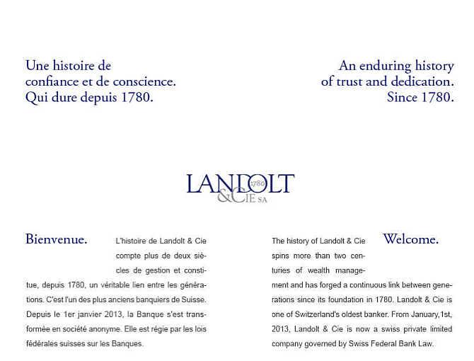 Homepage of Landolt & Cie website.