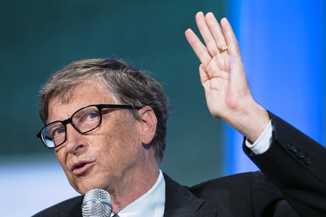Microsoft Founder Bill Gates speaks at the Clinton Global Initiative 2013 in New York.