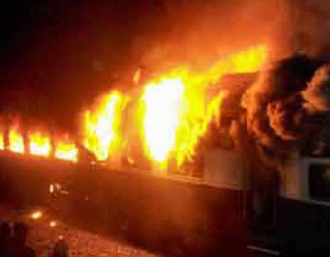 Dehradun Express blaze.