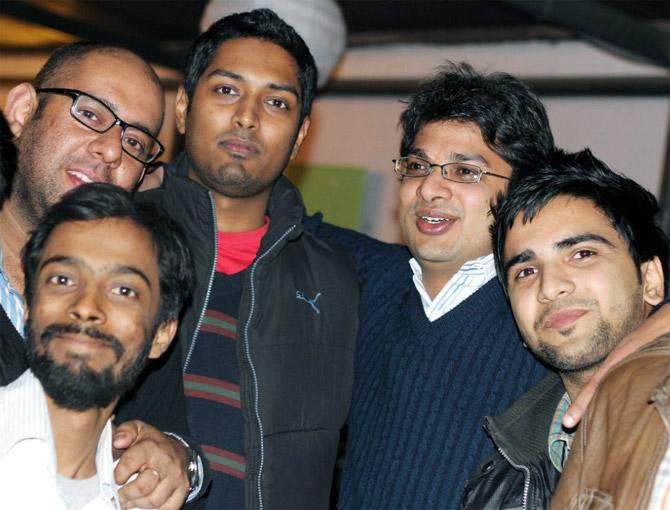 Ankur Singla with this team members.