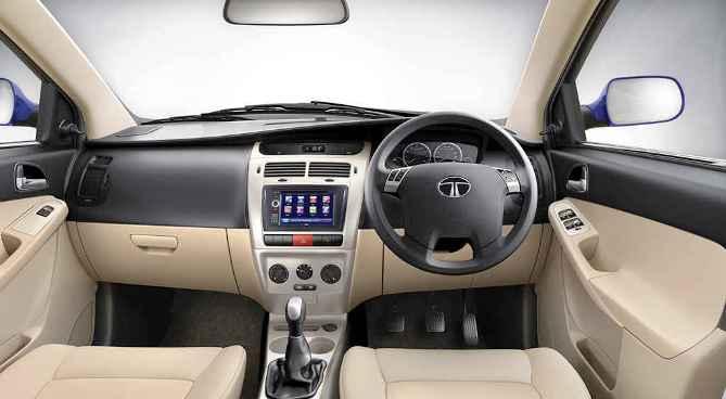 Tata Vista VX Tech interior.