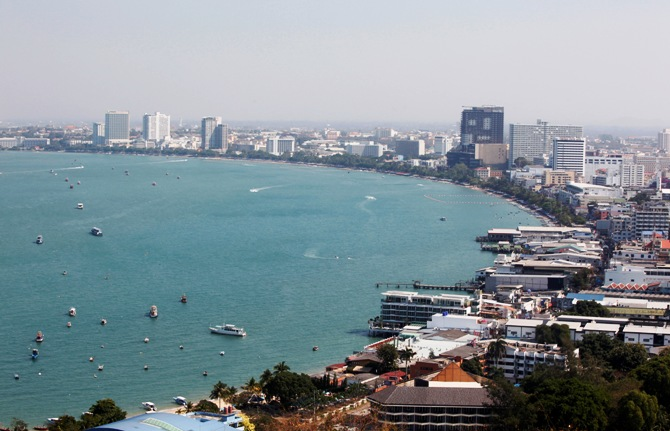 A general view shows the beach town of Pattaya, nearly 150 km (90 miles) east of Bangkok.