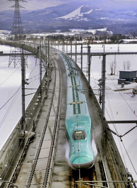 Bullet train in Japan.