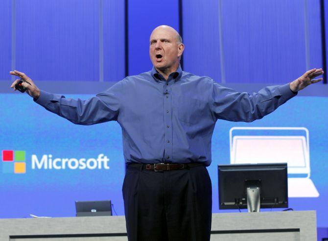 Microsoft's outgoing CEO Steve Ballmer.