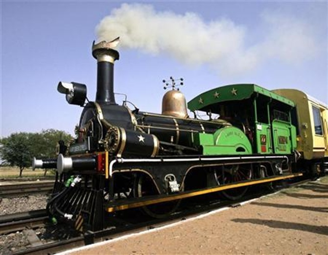 The Fairy Queen engine, the world's oldest working locomotive.