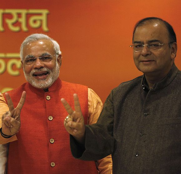Prime Minister Narendra Modi with Finance Minister Arun Jaitley.