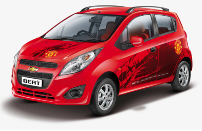 Manchester United version of Chevrolet Beat.