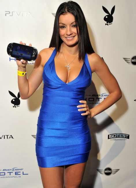 Playboy Gamer Next Door, Jo Garcia attends the 2012 Playboy Party.