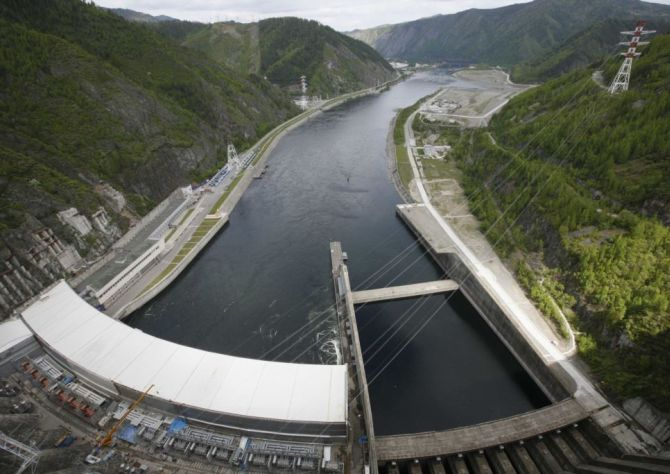 A hydri-electric power project.