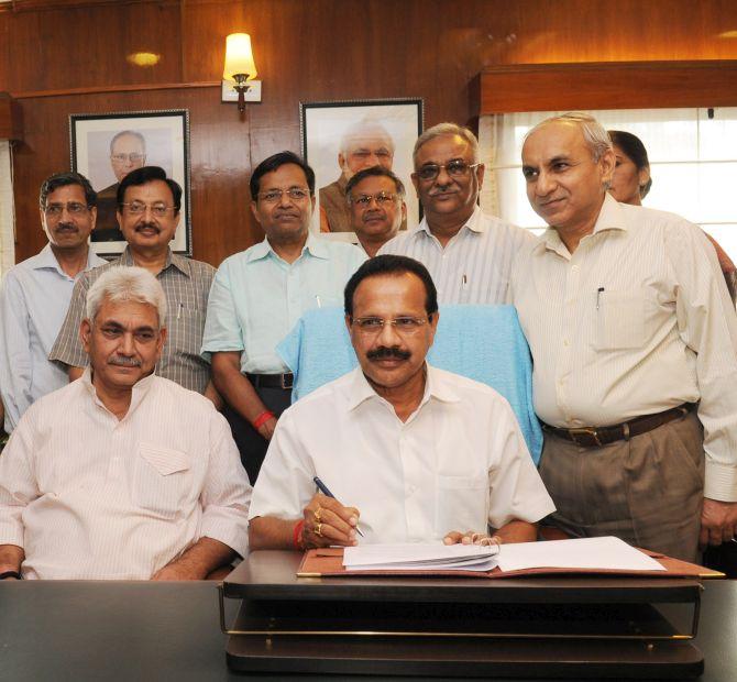 Railway Minister D V Sadananda Gowda.