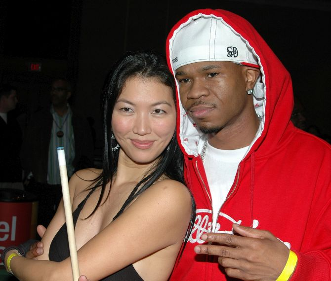 Rapper Chamillionaire and Women's Billiards Champ Jeanette Lee.