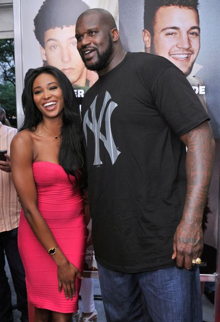 Nana Meriwether (L) and Shaquille O'Neal.