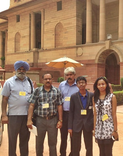 Innovators at the Rastrapati Bhavan.