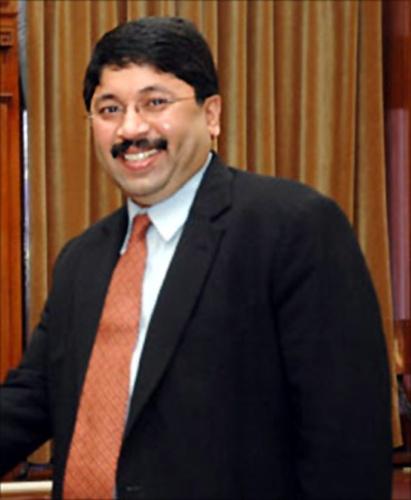 Former Union minister Dayanidhi Maran.