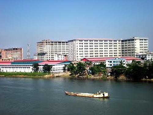 Sitalakkha river, Narayonganj, Bangladesh.