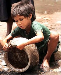 A child labourer