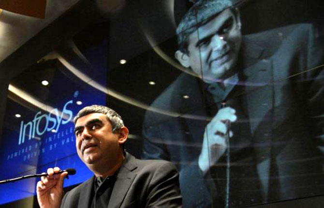 Vishal Sikka will look at augmenting the business of the company with new initiatives.