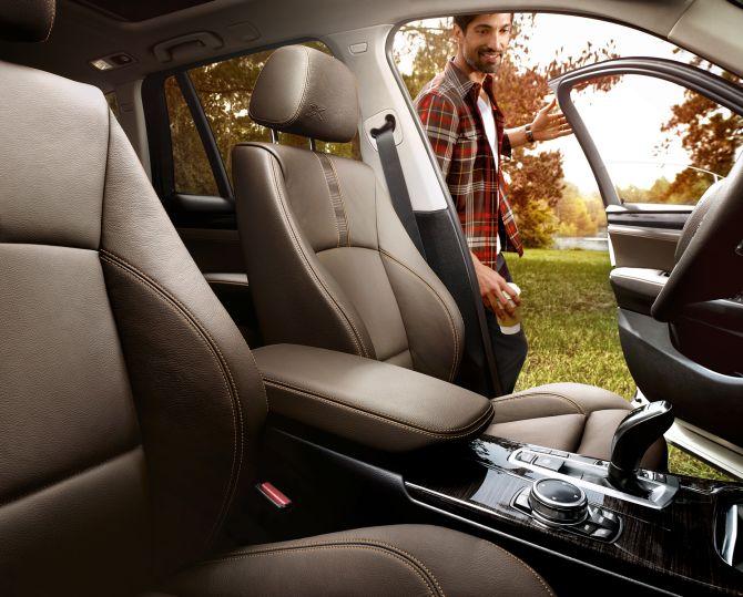 BMW X3 interior.