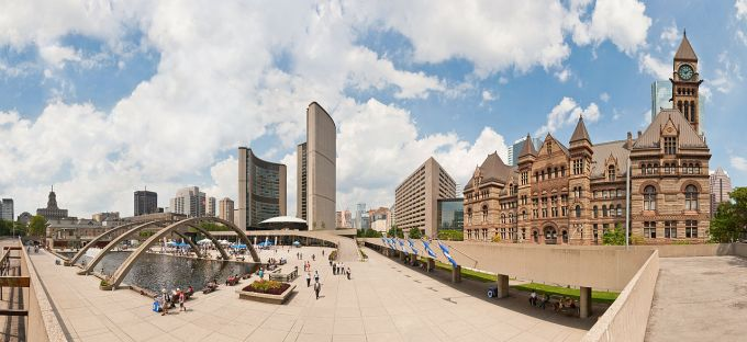Toronto's Nathan Phillips Square.