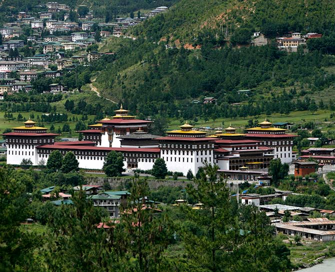 A general view of the Tashichhodzong.